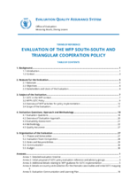 WFP South South and Triangular Cooperation: A Policy Evaluation