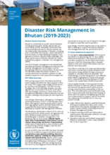 Disaster Risk Management in Bhutan (2019 - 2023)