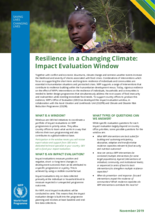 Resilience in a Changing Climate: Impact Evaluation Window: Brief