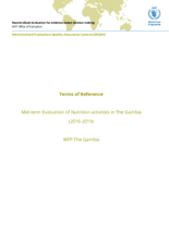 The Gambia, Nutrition Activities: mid-term evaluation