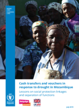 Cash transfers and vouchers in response to drought in Mozambique