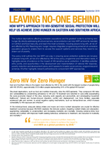 Leaving no-one behind: How WFP's approach to HIV-sensitive social protection will help us to achieve Zero Hunger in East and southern Africa