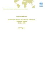 Nigeria, Formative Evaluation of Livelihoods Activities in Northeast Nigeria (2018-2020)
