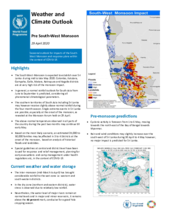 Weather and Climate Outlook of Pre South-West Monsoon (May 2020)