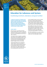 2019 - Education for Lebanese and  Syrians